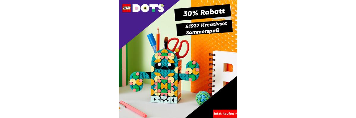 Jetzt besonders günstig LEGO® DOTS 41937 Kreativset Sommerspaß - Besonders günstig LEGO® DOTS 41937 Kreativset Sommerspaß bei der Steinchenwelt