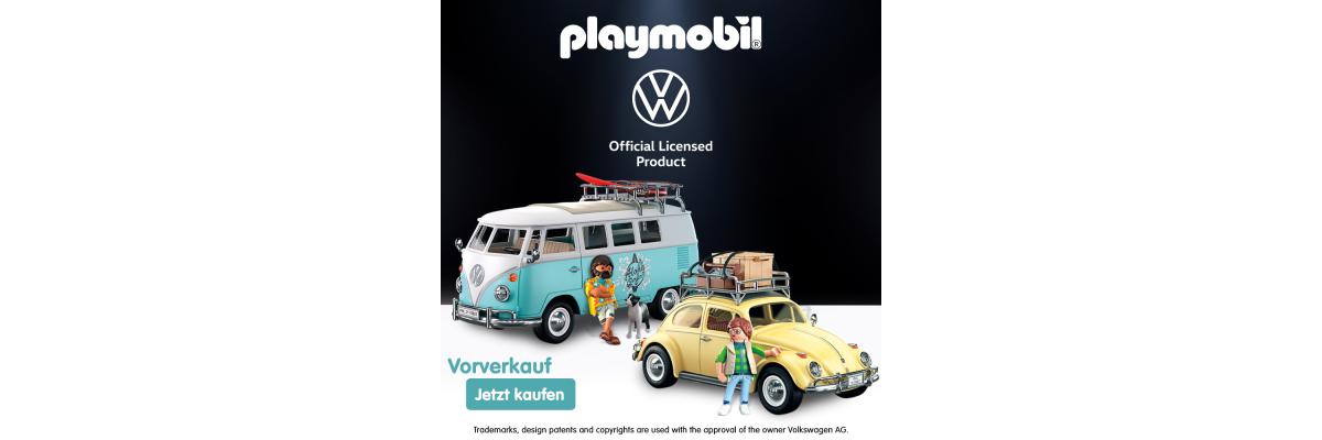 PLAYMOBIL® VW Käfer und Bulli  - PLAYMOBIL® VW Käfer und Bulli im Vorverkauf | Steinchenwelt