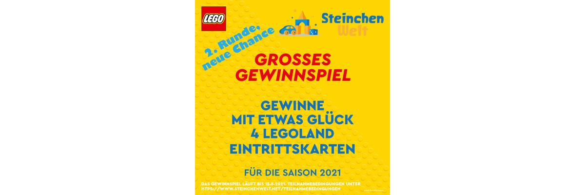 Gewinnspiel - gratis LEGOLAND Karten bei FB oder Instagram - Gewinne mit etwas Glück LEGOLAND Karten bei der Steinchenwelt
