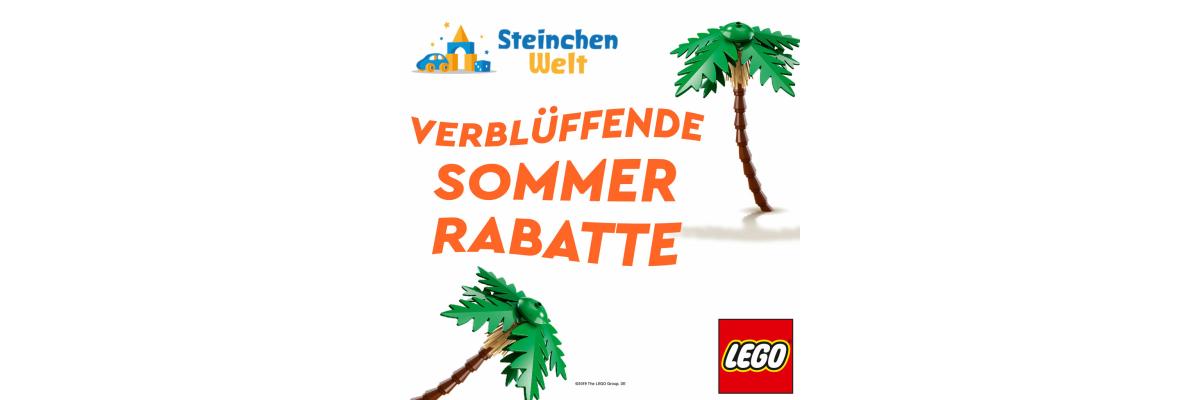 Verblüffende Sommerrabatte auf LEGO - Verblüffende Sommerrabatte auf LEGO bei Steinchenwelt