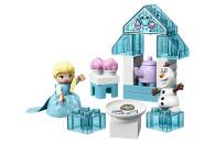 LEGO® 10920 DUPLO Princess Frozen II Elsas und Olafs Eis-Café Spielset mit großen Steinen, Cupcakes und einer Teekanne, für Kleinkinder ab 2 Jahren