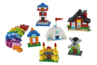 LEGO® 11008 Classic Bausteine - bunte Häuser Bauset, Spielzeug für Kleinkinder ab 4 Jahren, mit 6 einfach zu bauenden Modellen