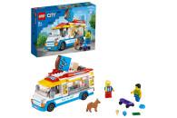 LEGO® 60253 City Eiswagen, Spielzeug mit Hund und Figur eines Skaters, tolles Set als Geschenk für Mädchen und Jungen ab 5 Jahre