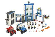 LEGO® 60246 City Polizeistation, Polizei-Spielzeug, Set mit LKW, Motorrad, Polizeigebäude sowie Sound- und Leuchtsteinen, Kinderspielzeug