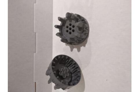 LEGO® System Hartplastik Räder 2x, grau