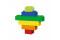 Hubelino 420383 bunte Bausteine Box (60-teilig)
