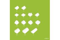 Hubelino 400376 Dachsteine Set (124-teilig)