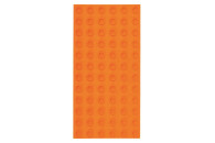 Strictly Briks - Bauplatte 6x12 BIG BRIKS Orange Doppelpack