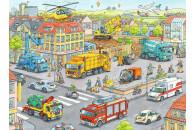 Ravensburger 100 Teile Kinderpuzzle Fahrzeuge in der Stadt