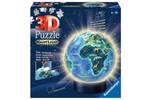 Nachtlicht - Erde bei Nacht 3D Puzzle
