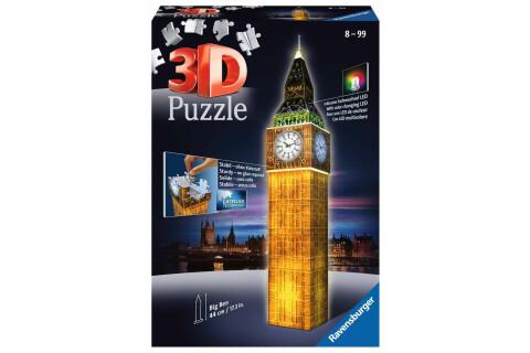 Big Ben bei Nacht - 3D Puzzle