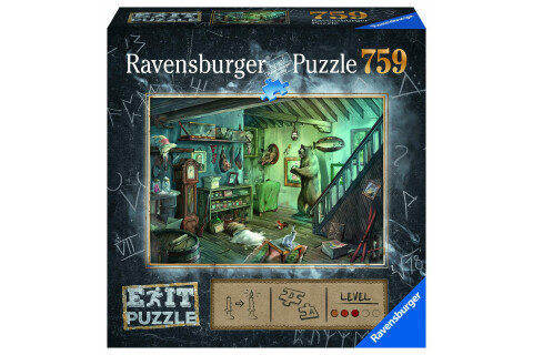 Ravensburger EXIT Puzzle mit Rätsel - Exit 8: Im Gruselkeller
