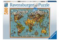Ravensburger Puzzle: Antike Schmetterling-Weltkarte 500...