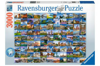 Ravensburger 3000 Teile Puzzle: 99 Beautiful Places in...
