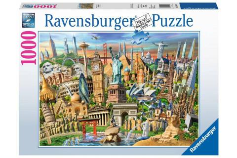 Ravensburger 1000 Teile Puzzle: Sehenswürdigkeiten weltweit