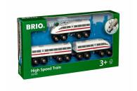 BRIO Schnellzug mit Sound, Holz, 3-teilig
