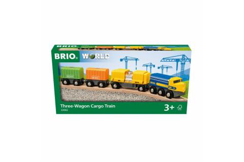 BRIO Güterzug mit drei Waggons (passend zur Holzeisenbahn)