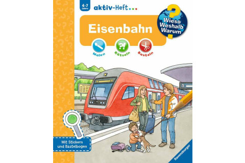 Ravensburger 32689 WWW aktiv-Heft Eisenbahn