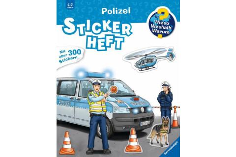 Ravensburger 32942 WWW Stickerheft: Polizei