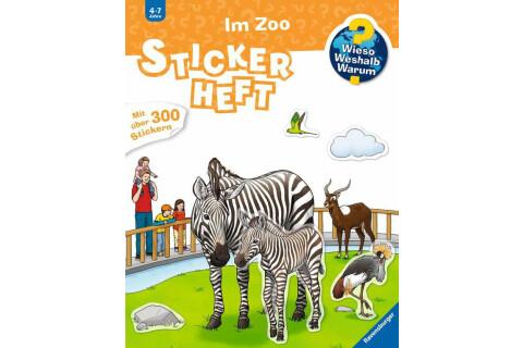 Ravensburger 32943 WWW Stickerheft: Im Zoo