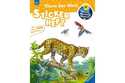 Ravensburger 32963 WWW Stickerheft: Tiere der Welt