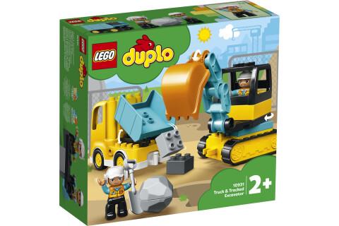 LEGO® 10931 DUPLO Bagger und Laster Baufahrzeug Spielzeugset für Kleinkinder ab 2 Jahren