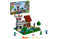 LEGO® 21161 Minecraft Die Crafting-Box 3.0 2-in-1 Set Schloss oder Farm mit Figuren: Steve, Alex und Creeper