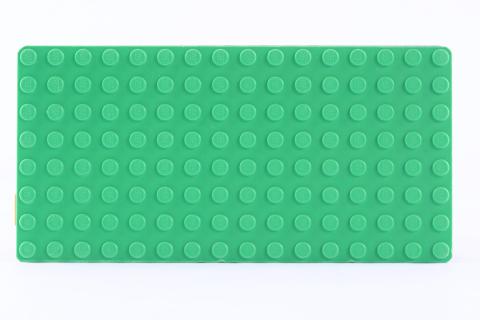 LEGO® Bauplatte 8x16 grün / Rasen Grundplatte - hellgrün