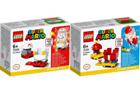 LEGO® Super Mario 2er Set: 71370 Feuer-Mario - Anzug + 71371 Propeller-Mario - Anzug