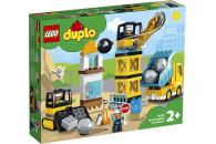 LEGO® DUPLO® Town 2er Set: 10932 Baustelle mit Abrissbirne + 10933 Große Baustelle mit Licht und Ton
