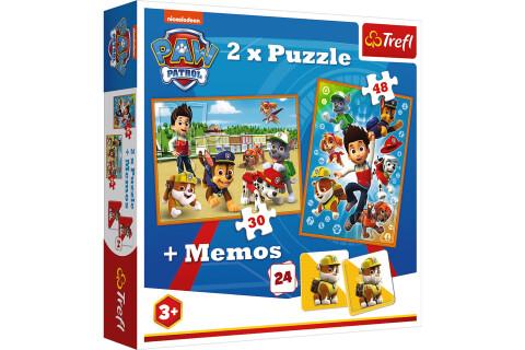 Trefl Paw Patrol Puzzle ab 3 Jahren - 2 Puzzles + Memos