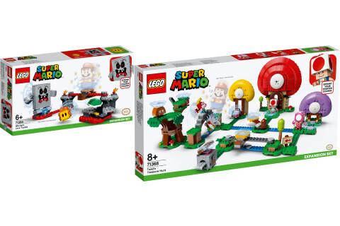 LEGO® Super Mario 2er Set: 71364 Wummps Lava-Ärger - Erweiterungsset + 71368 Toads Schatzsuche - Erweiterungsset