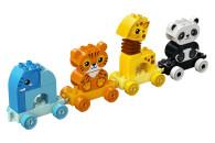 LEGO® 10955 DUPLO Mein erster Tierzug mit Elefanten, Tiger, Panda und Giraffe für 1,5-jährige Kleinkinder, Konstruktionsspielzeug