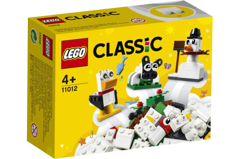 LEGO® 11012 Classic Kreativ-Bauset mit weißen Bausteinen, Bauset für Kinder, Spielzeug ab 4 Jahren mit Schneemann, Schaf und mehr