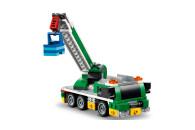 LEGO® 31113 Creator 3-In-1 Rennwagentransporter Spielzeug LKW mit Anhänger, Kran und Boot, Rennwagen Autotransporter, Spielzeugauto für Kinder ab 7 Jahre