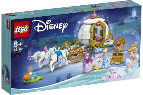LEGO® 43192 Disney Princess Cinderellas königliche Kutsche Pferde Spielzeug ab 6 Jahren mit 2 Minipuppen und Figuren