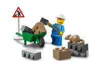 LEGO® 60284 City Baustellen-LKW Spielzeug Bausteine-Set, Frontlader Baufahrzeug für Jungen und Mädchen ab 4 Jahre, Lernspielzeug für Kinder