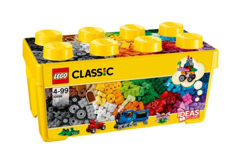 LEGO® 10696 Classic Mittelgroße Bausteine-Box, Lernspielzeug, einfache Aufbewahrung, Geschenk für LEGO® Fans