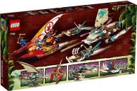 LEGO® 71748 NINJAGO Duell der Katamarane Bauset mit 4...