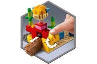 LEGO® 21164 Minecraft Das Korallenriff Bauset mit Alex, 2 Kugelfischen aus Bausteinen und Ertrunkenem Zombie
