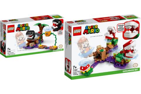 LEGO® Super Mario 2er Set: 71381 Begegnung mit dem Kettenhund - Erweiterungsset + 71382 Piranha-Pflanzen-Herausforderung - Erweiterungsset