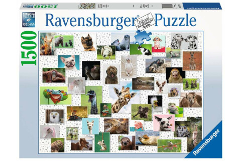 Ravensburger 1500 Teile Puzzle Funny Animals Collage