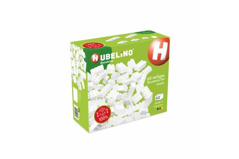Hubelino 60-teiliges weißes Bausteine Set - Kugelbahn Erweiterung 420602