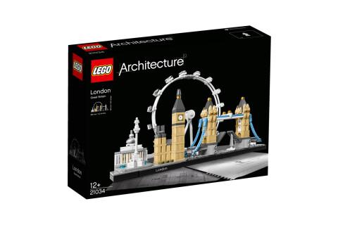LEGO® 21034 Architecture London Bauset, Skyline-Kollektion, London Eye, Big Ben, Tower Bridge, Geschenkidee für Kinder und Erwachsene, Bauset