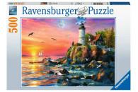 Ravensburger 500 Teile Puzzle Leuchtturm am Abend