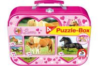 Schmidt Spiele 55588 Pferde Puzzle-Box 2x26 2x48 Teile