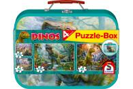 Schmidt Spiele 56495 Dinos, Puzzle-Box, 2x60, 2x100 Teile