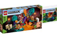 LEGO® Minecraft 2er Set: 21168 Der Wirrwald + 30331...