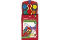 FABER-CASTELL Farbkasten Connector 12 Farben rot