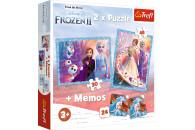 Trefl Disney Frozen II Set ab 3 Jahren - 2 Puzzles + Memory
